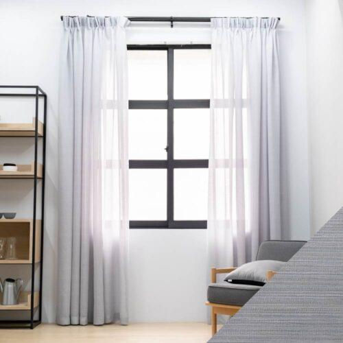 Baagus Curtain Sheer Malaysia Blushy Light Grey SP SX002 04G 01
