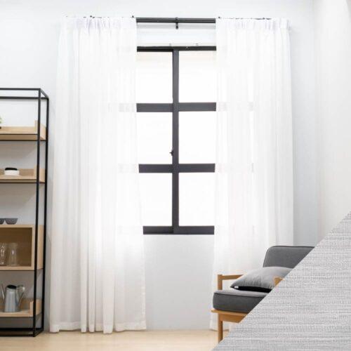 Baagus Curtain Sheer Malaysia Blushy White SP SX002 02B 01