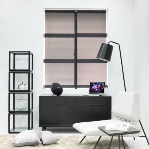 Baagus Curtain Sheer Malaysia Bold Peforated – Black 1