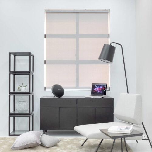 Baagus Curtain Sheer Malaysia Bold Peforated – Grey 1