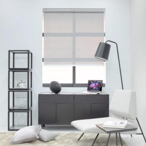 Baagus Curtain Sheer Malaysia Bold Peforated – Grey 2