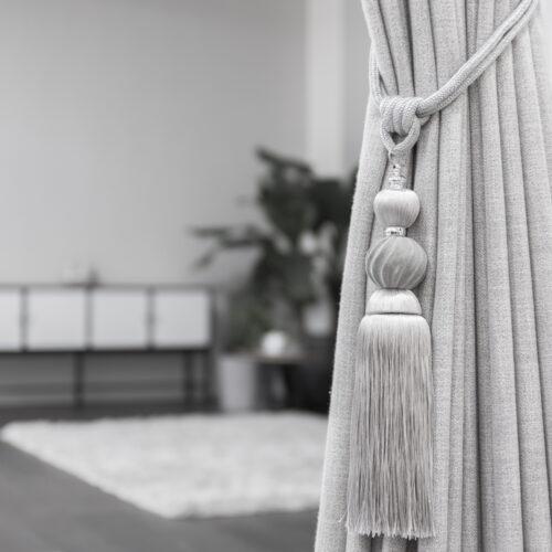 Baagus Curtain Sheer Malaysia Classy Velvet – Grey 3