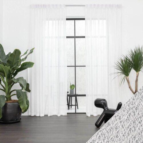 Baagus Curtain Sheer Malaysia Cottony Nest White 1 1