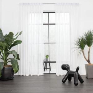 Baagus Curtain Sheer Malaysia Cottony Nest White 1