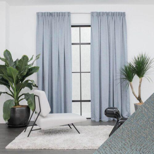 Baagus Curtain Sheer Malaysia Crosshatch Blue 1 01