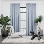 Baagus Curtain Sheer Malaysia Crosshatch Blue 1
