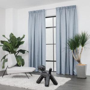 Baagus Curtain Sheer Malaysia Crosshatch Blue 2