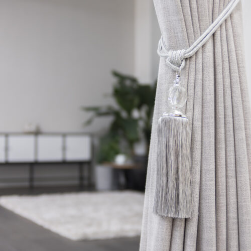 Baagus Curtain Sheer Malaysia Crystal Ball – Grey 3