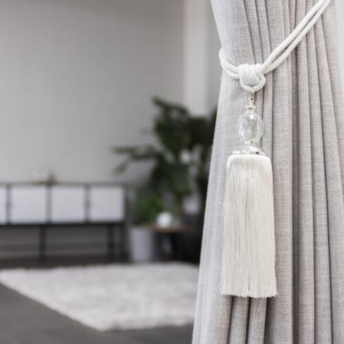 Baagus Curtain Sheer Malaysia Crystal Ball – White 3