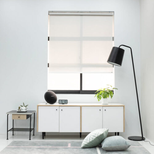 Baagus Curtain Sheer Malaysia Dense Peforated – Grey 2