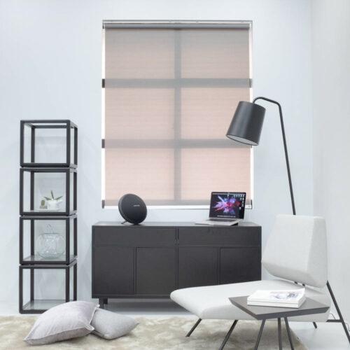 Baagus Curtain Sheer Malaysia Horizontal Dotted – Dark Grey 1