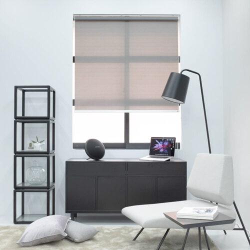 Baagus Curtain Sheer Malaysia Horizontal Dotted – Dark Grey 2
