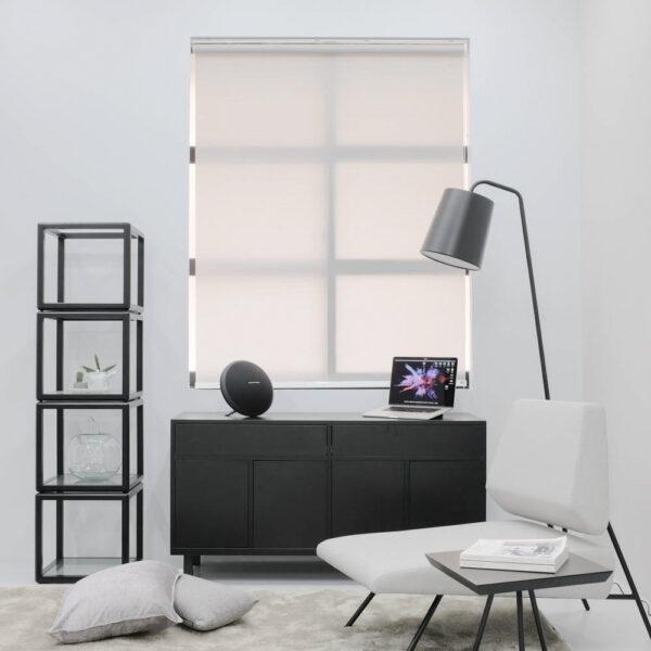 Baagus Curtain Sheer Malaysia Horizontal Dotted – Grey 1