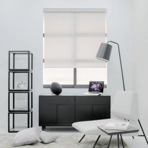 Baagus Curtain Sheer Malaysia Horizontal Dotted – Grey 2
