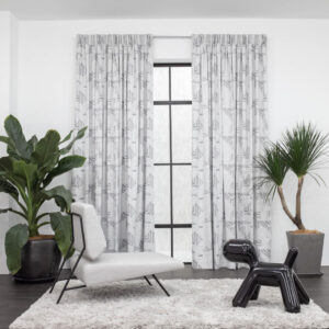 Baagus Curtain Sheer Malaysia Illustratin Light Grey 1