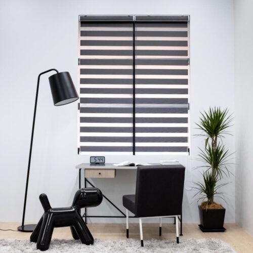 Baagus Curtain Sheer Malaysia Lined – Black 1