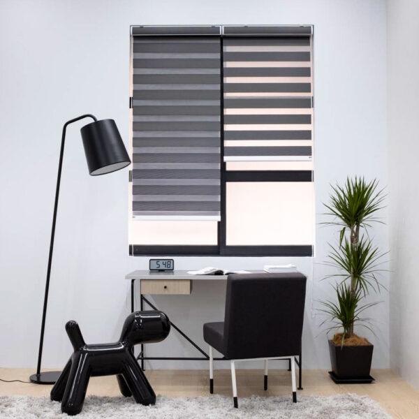 Baagus Curtain Sheer Malaysia Lined – Black 3