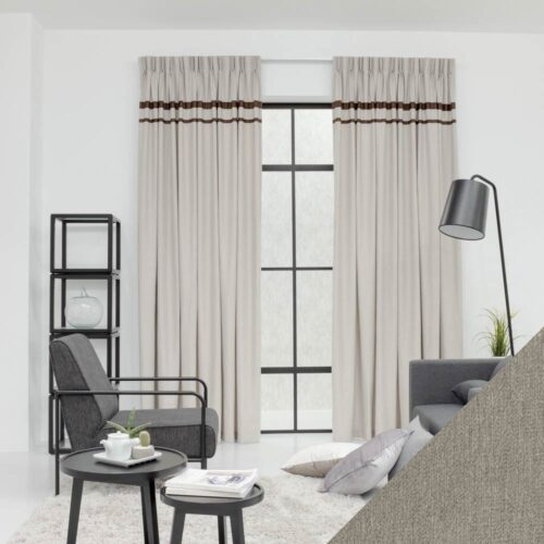 Baagus Curtain Sheer Malaysia Lined Soft Yarn Light Brown 222 122 1 01 01