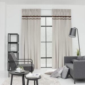 Baagus Curtain Sheer Malaysia Lined Soft Yarn Light Brown 222 122 1