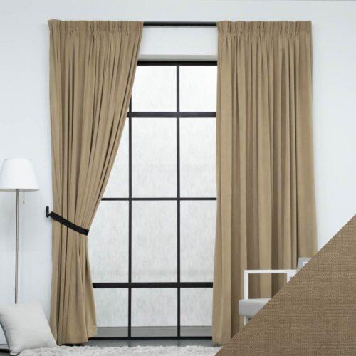 Baagus Curtain Sheer Malaysia Marshmallow Brown FP 8601 28BR 01