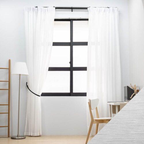 Baagus Curtain Sheer Malaysia Matrix White SP SX002 27B 01