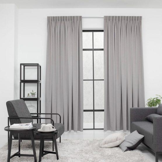 Baagus Curtain Sheer Malaysia Matte Diamond Dark Grey 1