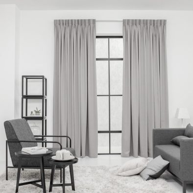 Baagus Curtain Sheer Malaysia Matte Stairwell Dark Grey 1