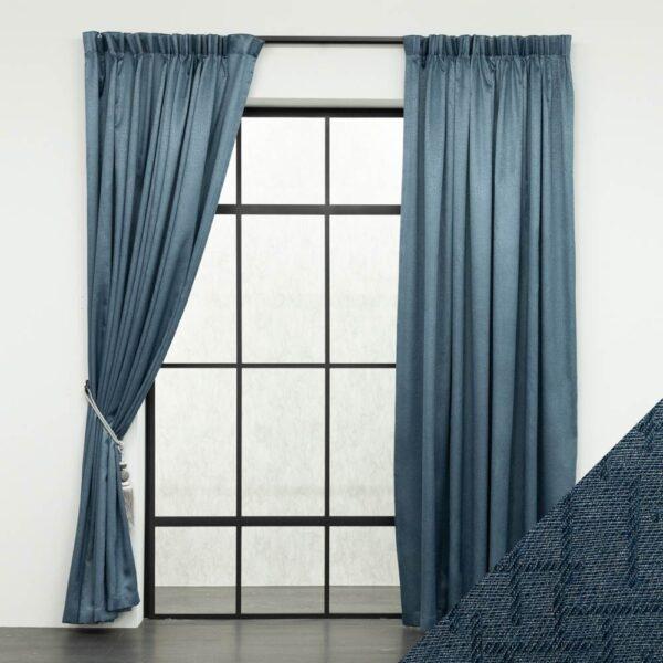 Baagus Curtain Sheer Malaysia Mazee Blue FP 3008 11BL DSC 9564 01 01