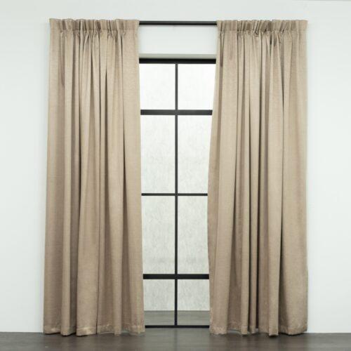 Baagus Curtain Sheer Malaysia Mazee Brown FP 3008 5BR DSC 9511