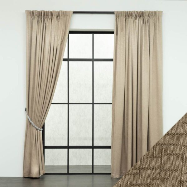 Baagus Curtain Sheer Malaysia Mazee Brown FP 3008 5BR DSC 9513 01