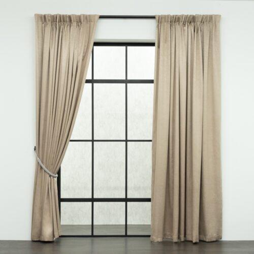 Baagus Curtain Sheer Malaysia Mazee Brown FP 3008 5BR DSC 9513