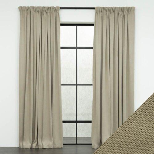 Baagus Curtain Sheer Malaysia Meshy Brown FB Q259 10BR DSC 9554 01