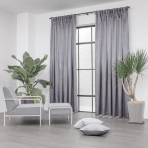 Baagus Curtain Sheer Malaysia Metallic Cross Dark Grey 2