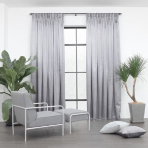 Baagus Curtain Sheer Malaysia Metallic Cross Light Grey 1