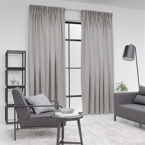 Baagus Curtain Sheer Malaysia Metallic Embossed Brown 2