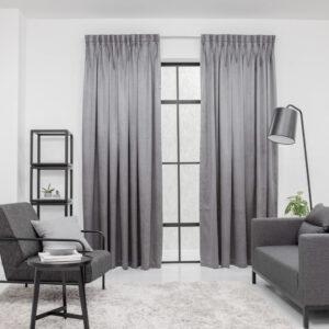 Baagus Curtain Sheer Malaysia Metallic Embossed Grey 1
