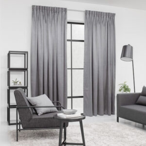 Baagus Curtain Sheer Malaysia Metallic Embossed Grey 2