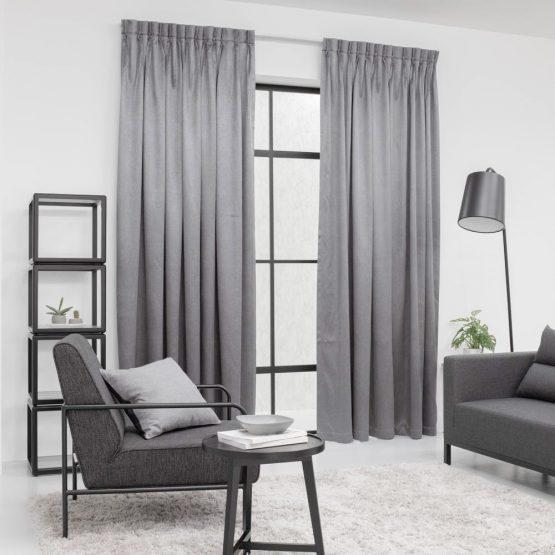 Baagus Curtain Sheer Malaysia Metallic Embossed Grey 2