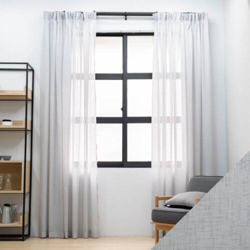 Baagus Curtain Sheer Malaysia Milano Grey SP SX002 09G 01