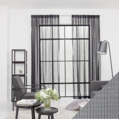 Baagus Curtain Sheer Malaysia Mine Square Black 1 1