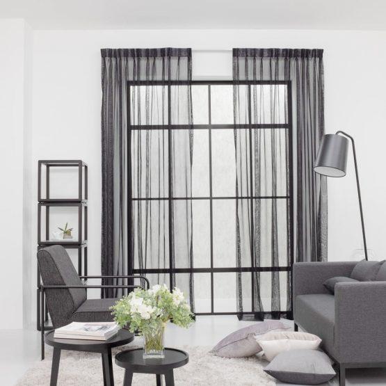 Baagus Curtain Sheer Malaysia Mine Square Black 1