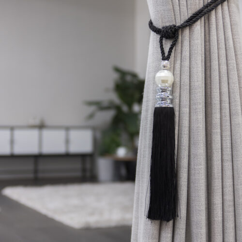 Baagus Curtain Sheer Malaysia Pearl – Black 3