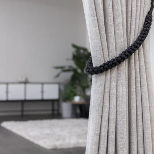 Baagus Curtain Sheer Malaysia Rope – Black 3