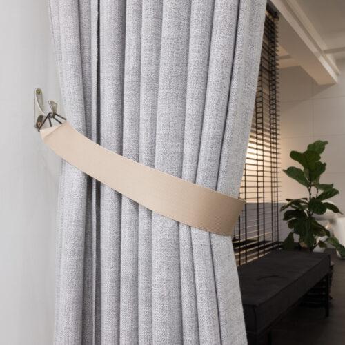 Baagus Curtain Sheer Malaysia Sleek Triangle – Beige 2