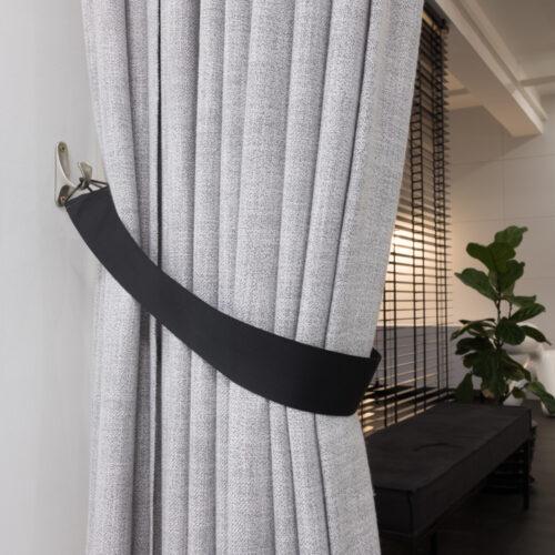 Baagus Curtain Sheer Malaysia Sleek Triangle – Black 2