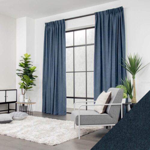 Baagus Curtain Sheer Malaysia Soft Yarn – Blue 2 01