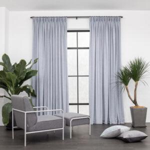 Baagus Curtain Sheer Malaysia Soft Yarn Blue 1