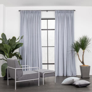 Baagus Curtain Sheer Malaysia Soft Yarn Blue 1