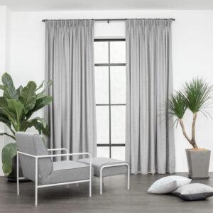 Baagus Curtain Sheer Malaysia Soft Yarn Dark Grey 1