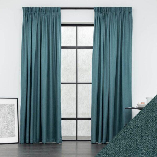 Baagus Curtain Sheer Malaysia Square Diamond Green FP 5056 19GN DSC 9048 2 01